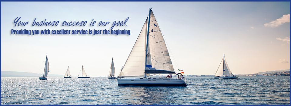 Your business success is our goal.Providing you with excellent service is just the beginning. | sailboat